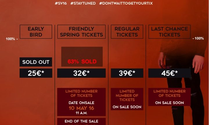 FRIENDLY SPRING TICKETS ARE SELLING FAST
