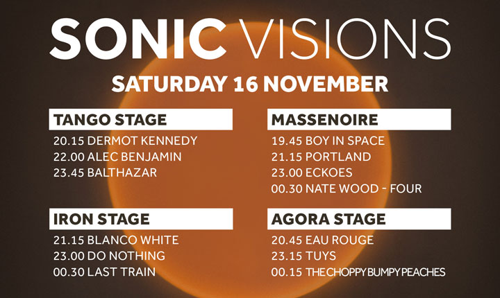 Sonic Visions Day 2 – Schedule Changes